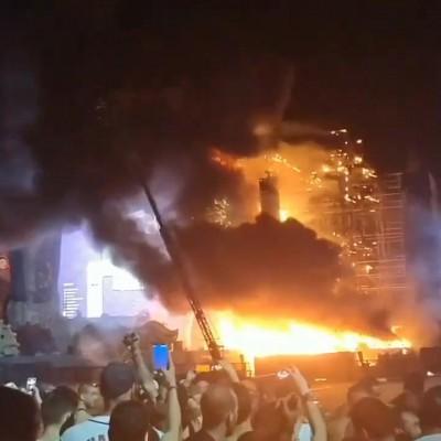 دانلود موسیقی آتش سوزی گسترده در جشنواره موسیقی اسپانیا ۲۲هزار تن را فراری داد